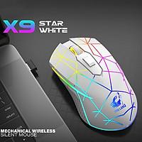 Chuột chơi game ZIYOU LANG X9 không dây sạc pin, Led nền RGB tự động 1800 DPI 6 Nút Lập Trình Cho PC Laptop - Hàng chính hãng
