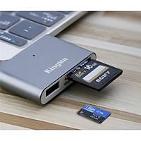Đầu đọc thẻ nhớ đầu USB Type-C 3.0 Kingma hàng chính hãng.