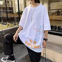 5 Color【M-3XL】 Summer New StyleFashion Short Sleeve T-shirt Men Personality Printed Graphic Breathable Oversize Student Couple Short T-shirt Couple Wear Unisex Half Sleeve T-shirt