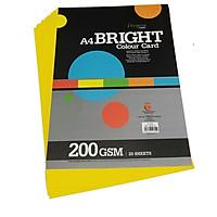 Giấy Bìa Màu A4 CAMPAP CA4704 - Định Lượng 200gsm (20 Tờ/Xấp) - Màu Vàng