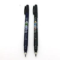 Bộ 2 Bút viết thư pháp TOMBOW FUDENOSUKE chuyên viết Hán tự Brush Lettering ( Đầu brush mềm và đầu brush cứng)