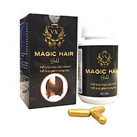 Viên uống hỗ trợ mọc tóc nhanh chữa hói đầu Magic Hair Gold (Trị rụng tóc, rụng tóc sau sinh, giúp mọc tóc nhanh, ngăn tóc bạc sớm)