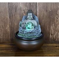 Thác Nước Phong Thủy Đức Phật Tọa Sơn Màu Đá Mới
