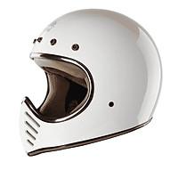 Mũ Bảo Hiểm Fullface H1 Royal - Trắng bóng