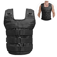 Max Loading 50kg Adjustable Weighted Vest Weight Jacket Oxford Exercise Weight Loading Cloth Strength Training (Empty)