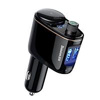 Cóc củ sạc nhanh kiêm máy nghe nhạc Bluetooth Mp3 hiệu Baseus S06 cho ô tô xe hơi 2 cổng sạc USB, Bluetooth 4.2, đài FM - Hàng chính hãng