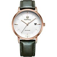 Đồng hồ nam dây da chính hãng Thụy Sĩ TOPHILL TS001M.PG3252