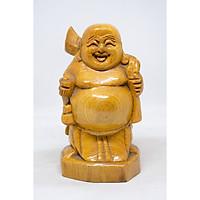 Tượng Phật Di Lặc bằng gỗ Pơ Mu