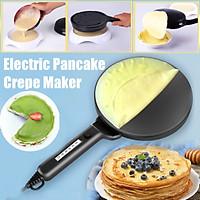 "3PCS/Set Multifunction Black Electric Pancake Crepe Maker Pan Pizza Machine 7.9""x16.5"""