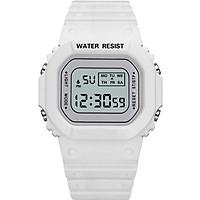 Đồng Hồ NỮ điện tử KASAWI Mặt Vuông K01222 Sports - xem giờ điện tử - báo thức - bấm giờ thể thao - xem lịch ngày tháng thứ - Dây Silicone Bền Chắc