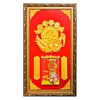 Lịch gỗ phù điêu chữ Lộc - SK012
