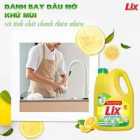 Nước rửa chén Lix siêu đậm đặc chiết xuất chanh can 3.6kg