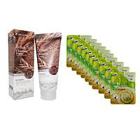 Combo Sữa Rửa Mặt Chiết Xuất Từ Gạo 3W Clinic Brown Rice Foam Cleansing và Bộ 10 gói mặt nạ chiết xuất ốc sên 3W Clinic Fresh Snail Mask Sheet