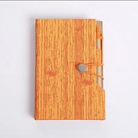 Sổ vở M&G bìa cứng vân gỗ kèm bút giấy note A6 160 trang 10,3x15,5cm