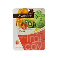 Set 10 gói Mặt nạ giấy dưỡng trắng da tinh chất Trái cây tổng hợp Avander 25gx10