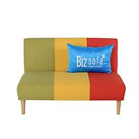 Ghế Sofa Giường _BizSofa Bed _MLF-121_120x90x90 cm_Phối sọc Đỏ Vàng Xanh lá