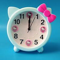 Đồng hồ báo thức để bàn mèo nơ Kitty HX3162 - màu ngẫu nhiên