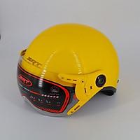 Mũ Bảo Hiểm Nửa Đầu SRT_A33K Có Kính Càng Chắn Bụi Chống Gió
