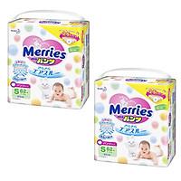 Bộ 2 bỉm quần Merries siêu thấm hút, mềm mịn...