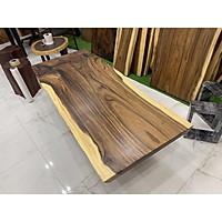 Bàn gỗ me tây nguyên tấm dài 1m8