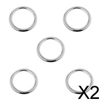 2x5 Pieces Smooth Welded Polished Boat Marine Stainless Steel O 4 X 25mm