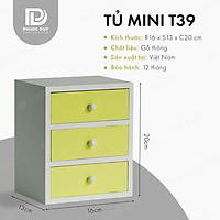 Tủ mini để bàn đa năng - Tủ nữ trang mỹ phẩm T39