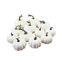 12PCS Artificial Pumpkins Set Lifelike Fake Fruit Fall Harvest Halloween Thanksgiving Home House Kitchen Decorations