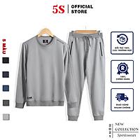 Bộ Quần Áo Nỉ Nam 5S (5 màu), Chất Liệu Cotton USA, Mềm Mịn, Bền Màu, Không Bai Xù, Co Giãn Thoải Mái (BNI21002)