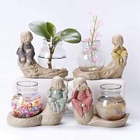 Bộ 4 tượng tứ không kèm lọ hoa