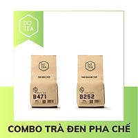 Combo Trà đen pha chế - Trà đen viên B471 + Trà đen bá tước B252 - Nguyên liệu pha chế trà sữa, trà trái cây