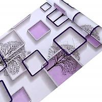 Combo 10M decal giấy dán tường Ô Vuông Trắng Tím (10mx0.45m) - decalsusu