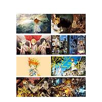 Poster 8 tấm A4 The Promised Neverland Miền Đất Hứa anime tranh treo album ảnh in hình đẹp (MẪU GIAO NGẪU NHIÊN)