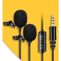 Mic thu âm đôi cho điện thoại máy ảnh VM50 - Hàng chính hãng