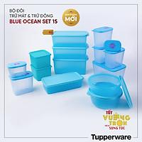 Bộ Hộp Trữ Mát và Trữ Đông Blue Ocean Set 19 Hộp Tupperware