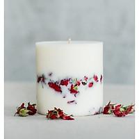 Nến thơm sáp đậu nành cao cấp, trang trí nụ hoa hồng tinh tế và đẹp mắt, hương thơm tự chọn.