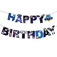 Dây chữ Happy Birthday trang trí sinh nhật chủ đề không gian