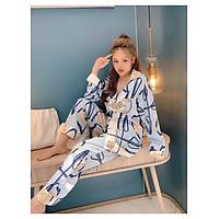 Bộ Pijama Họa Tiết Lụa Cao Cấp