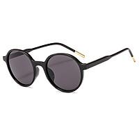 Women Simple Fashion Anti-UV Sunglasses Round Frame Sunglasses