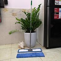 Combo cây lau nhà inox san hô 90cm + một tâm slau thay thế 90cm Bodoca