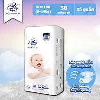 Tã Bỉm Quần Lucky Baby Không Huỳnh Quang, Siêu Thấm Hút L38 (9-14kg)