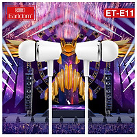 Tai nghe nhét tai có dây Earldom ET-E11 Stero Earphone - HÀNG CHÍNH HÃNG 100% (màu đen hoặc trắng ngẫu nhiên)