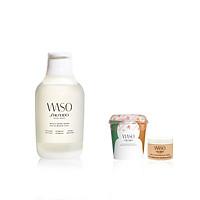 Bộ sản phẩm Waso Beauty Smart tặng Mặt nạ Waso Silky Smooth Mochi và Kem dưỡng ẩm Shiseido Waso GIGA Hydrating Rich Cream 15ml