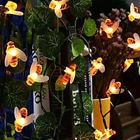 Đèn Con Ong 30LED Năng Lượng Mặt Trời Trang Trí Sân Vườn Vào Ban Đêm