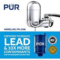 Thiết bị lọc nước tại vòi nhập khẩu Pur, loại bỏ chì và hơn 70 tạp chất có trong nước, đạt tiêu chuẩn NSF/ANSI và QWA của Mỹ