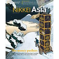 Nikkei Asian Review: Nikkei Asia - 2021: THE MONEY PUSHERS - 26.21 tạp chí kinh tế nước ngoài, nhập khẩu từ Singapore