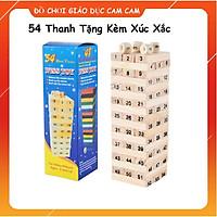 Bộ đồ chơi Rút gỗ 54 thanh tặng kèm xúc xắc wisstoy siêu bền trò chơi trí tuệ cho bé