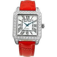 Đồng hồ nữ chính hãng Royal Crown 6104 dây da đỏ