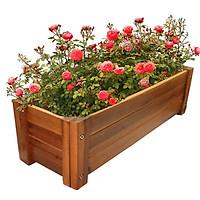 Chậu gỗ trồng cây hình chữ nhật Greenhome - Chịu nước tốt, chắc chắn, đảm bảo bền bỉ để chịu mọi thời tiết  - Trồng cây trang trí ban công, phòng làm việc - xếp dễ dàng, dễ vận chuyển D85xR30xC30cm