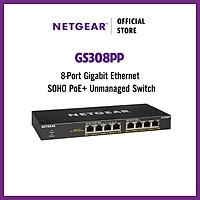 Bộ Chia Mạng Để Bàn 8 Cổng 10/100/1000M PoE+ Gigabit Ethernet Unmanaged Switch Netgear GS308PP - Hàng Chính Hãng