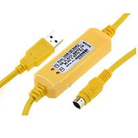Cáp lập trình PLC USB-QC30R2 cho dòng Q Series  dài 3 mét  hỗ trợ WIN7 - Hàng chính hãng